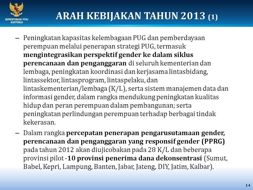 ARAH KEBIJAKAN TAHUN 2013 (1)