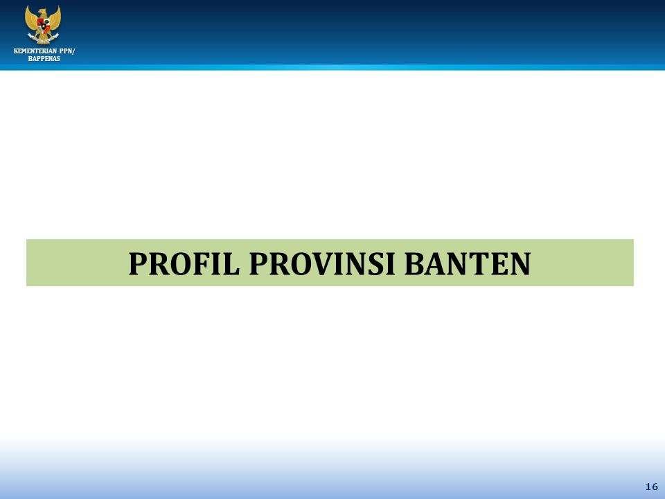 PROFIL PROVINSI BANTEN