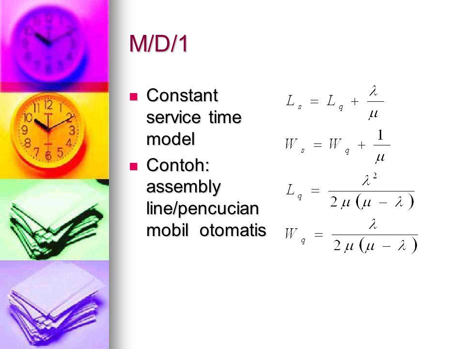M/D/1 Constant service time model