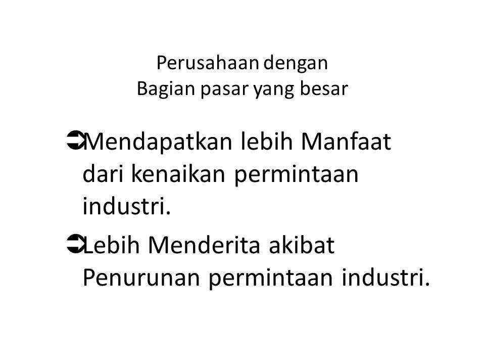 Perusahaan dengan Bagian pasar yang besar