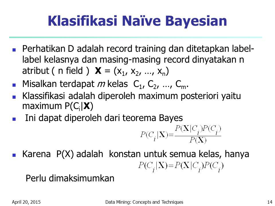 Klasifikasi Naïve Bayesian