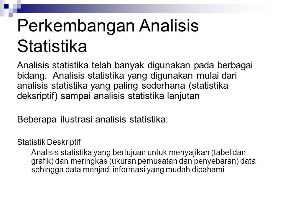 Perkembangan Analisis Statistika