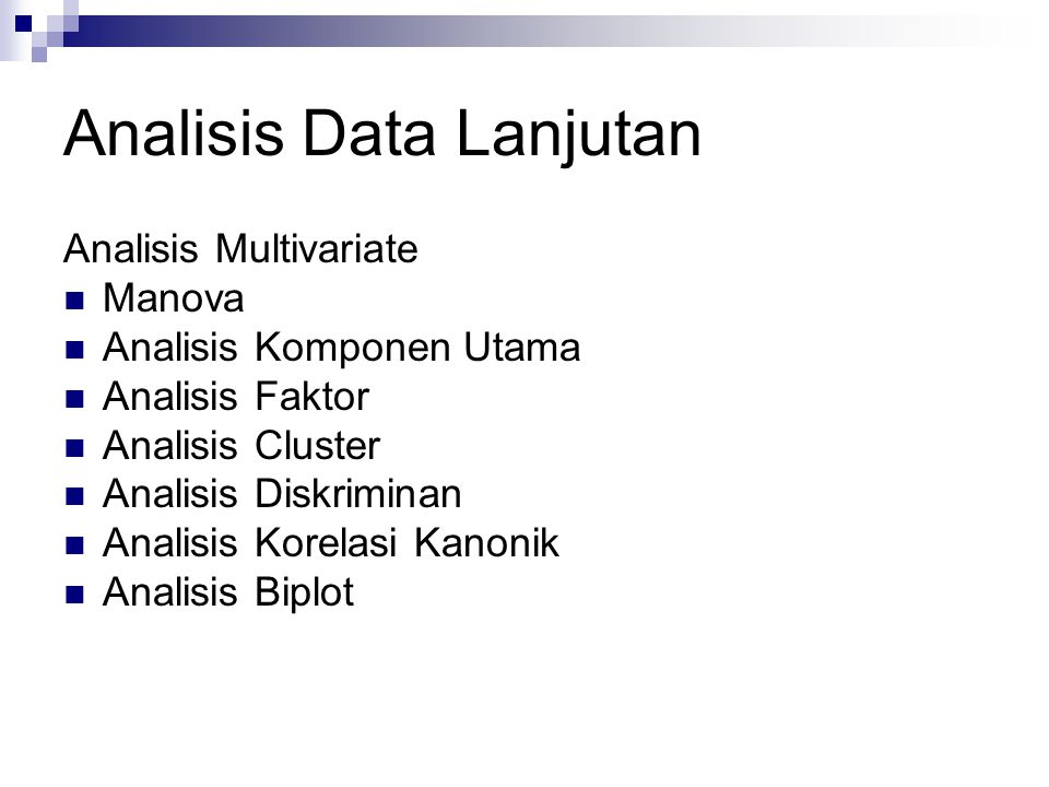 Analisis Data Lanjutan