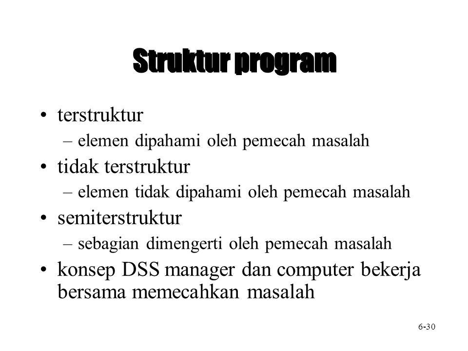 Struktur program terstruktur tidak terstruktur semiterstruktur