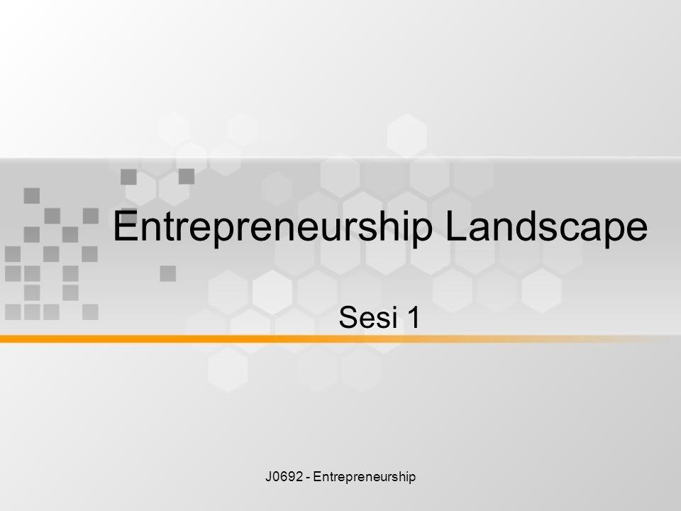 Entrepreneurship Landscape