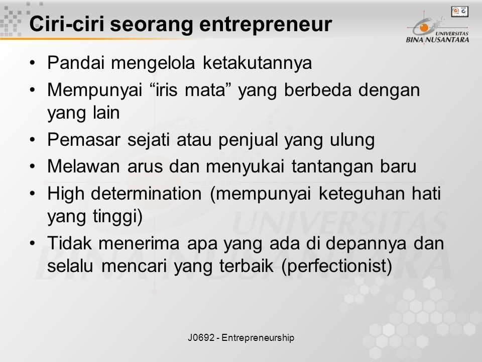 Ciri-ciri seorang entrepreneur