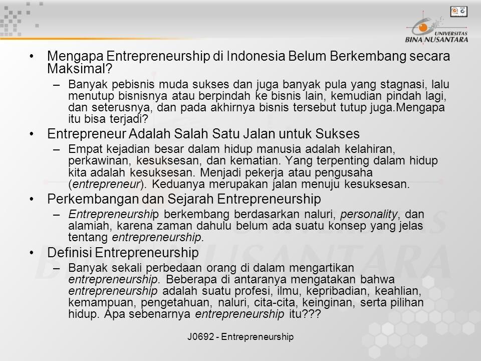 Entrepreneur Adalah Salah Satu Jalan untuk Sukses