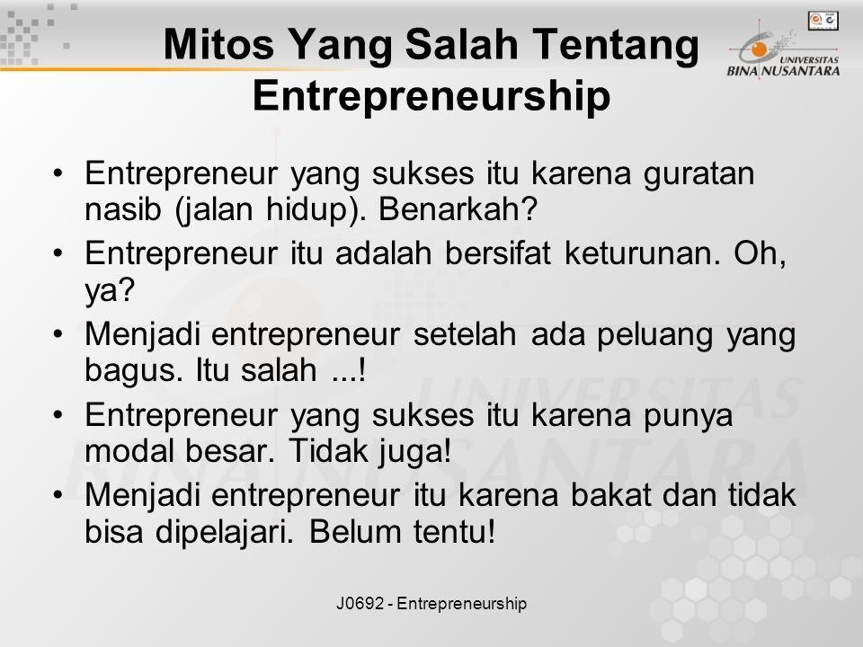 Mitos Yang Salah Tentang Entrepreneurship
