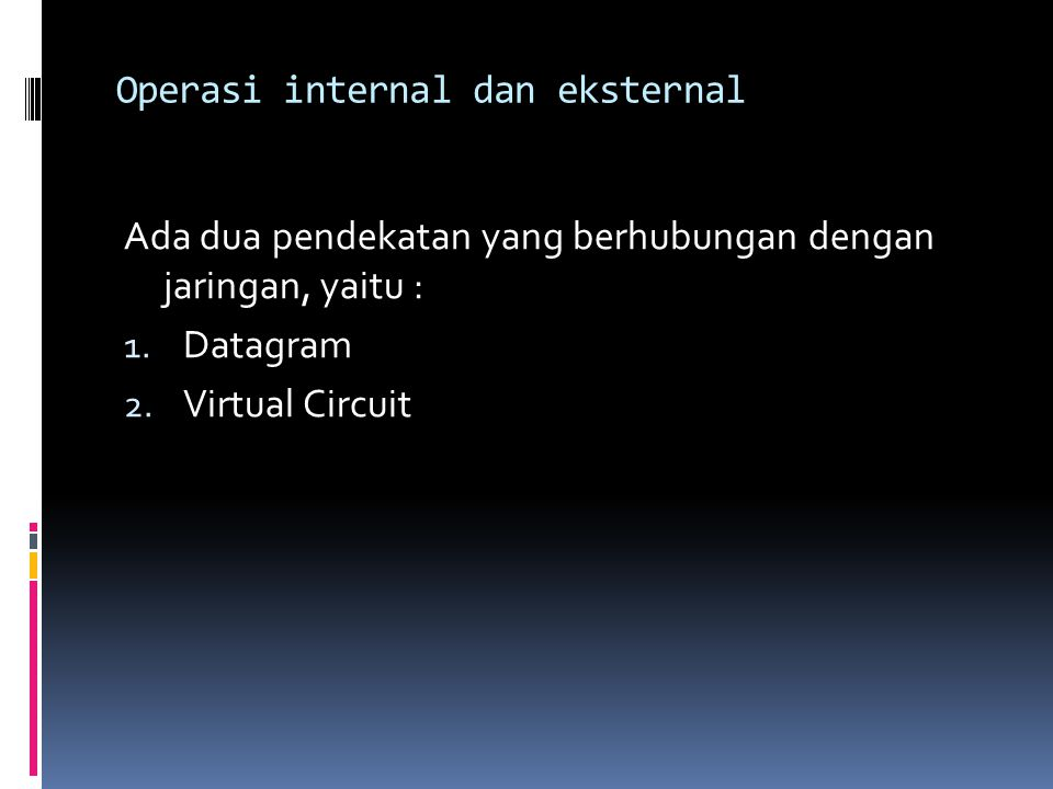 Operasi internal dan eksternal