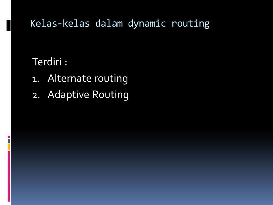 Kelas-kelas dalam dynamic routing