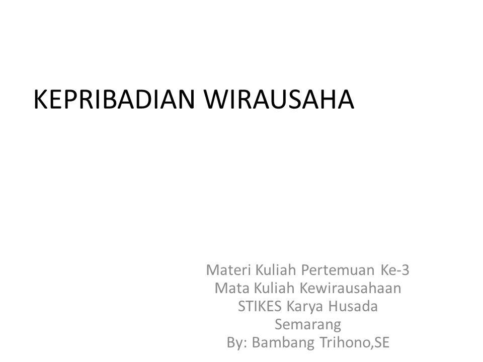 KEPRIBADIAN WIRAUSAHA