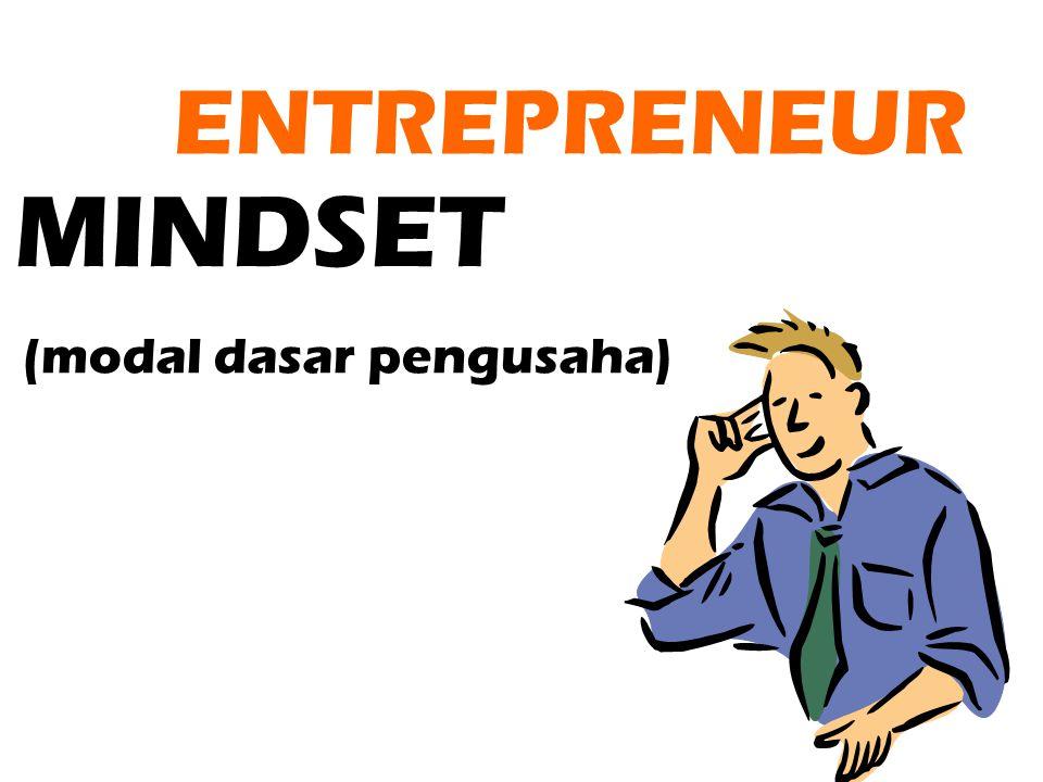 MINDSET ENTREPRENEUR (modal dasar pengusaha)