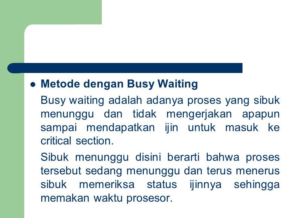Metode dengan Busy Waiting