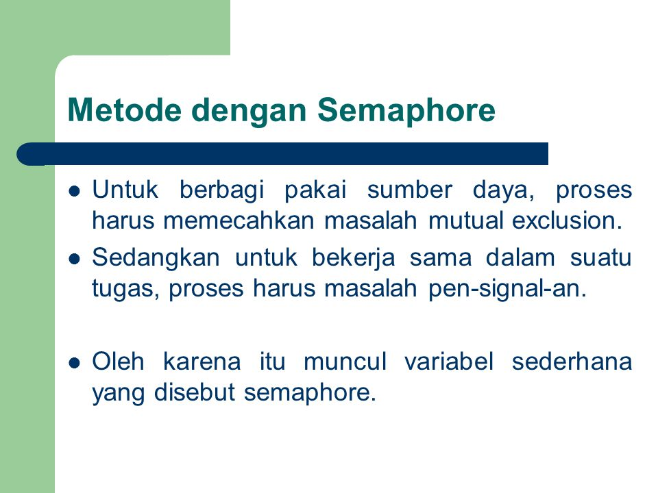 Metode dengan Semaphore