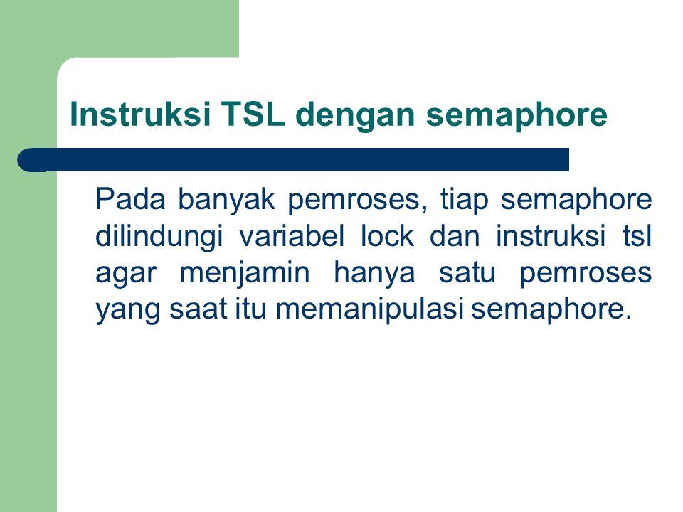 Instruksi TSL dengan semaphore