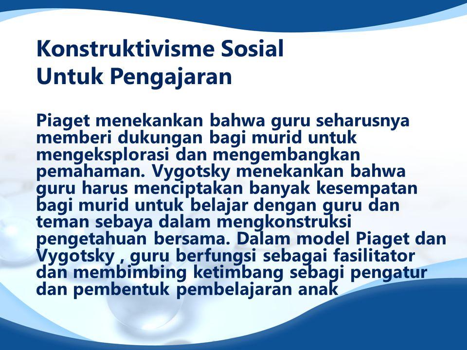 Konstruktivisme Sosial Untuk Pengajaran