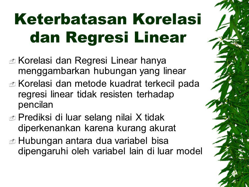 Keterbatasan Korelasi dan Regresi Linear