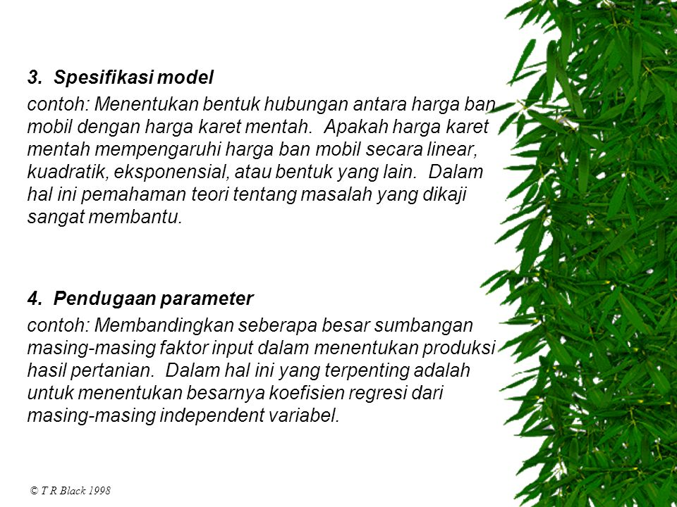 3. Spesifikasi model