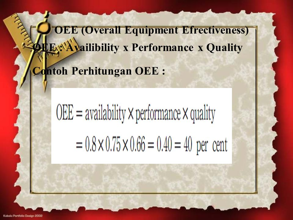 OEE (Overall Equipment Efrectiveness)