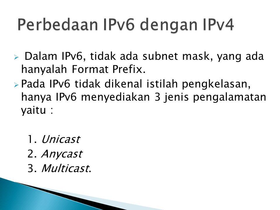 Perbedaan IPv6 dengan IPv4