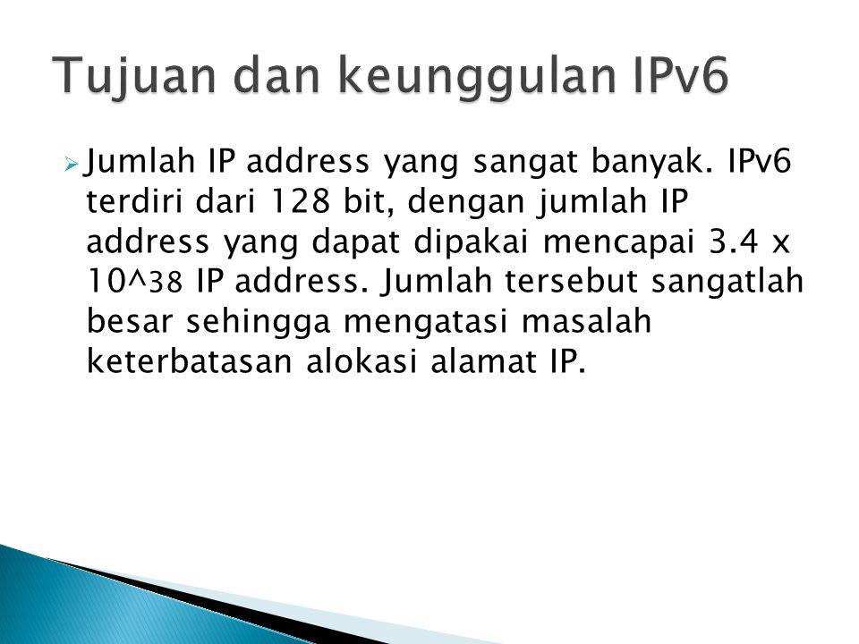 Tujuan dan keunggulan IPv6