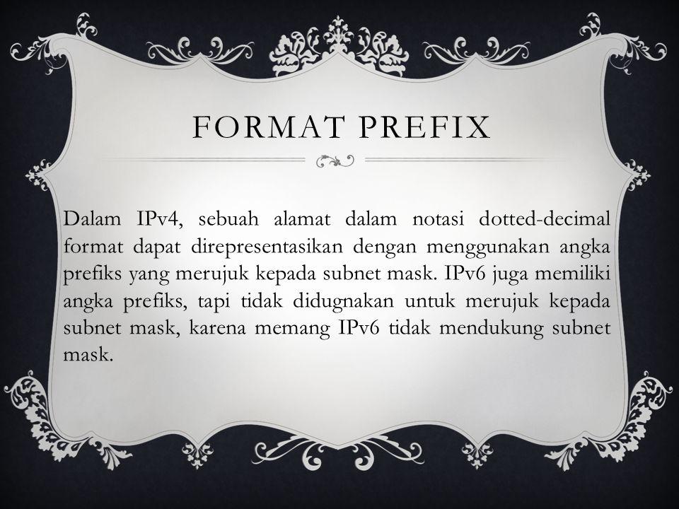 Format Prefix