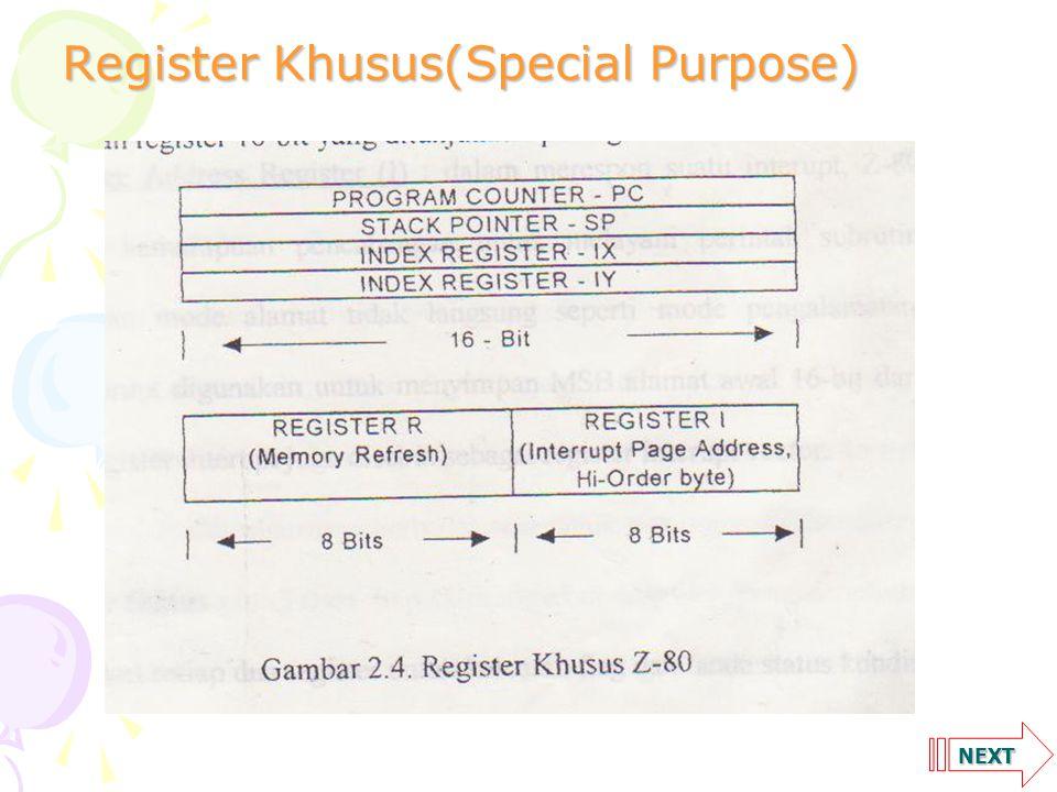 Register Khusus(Special Purpose)