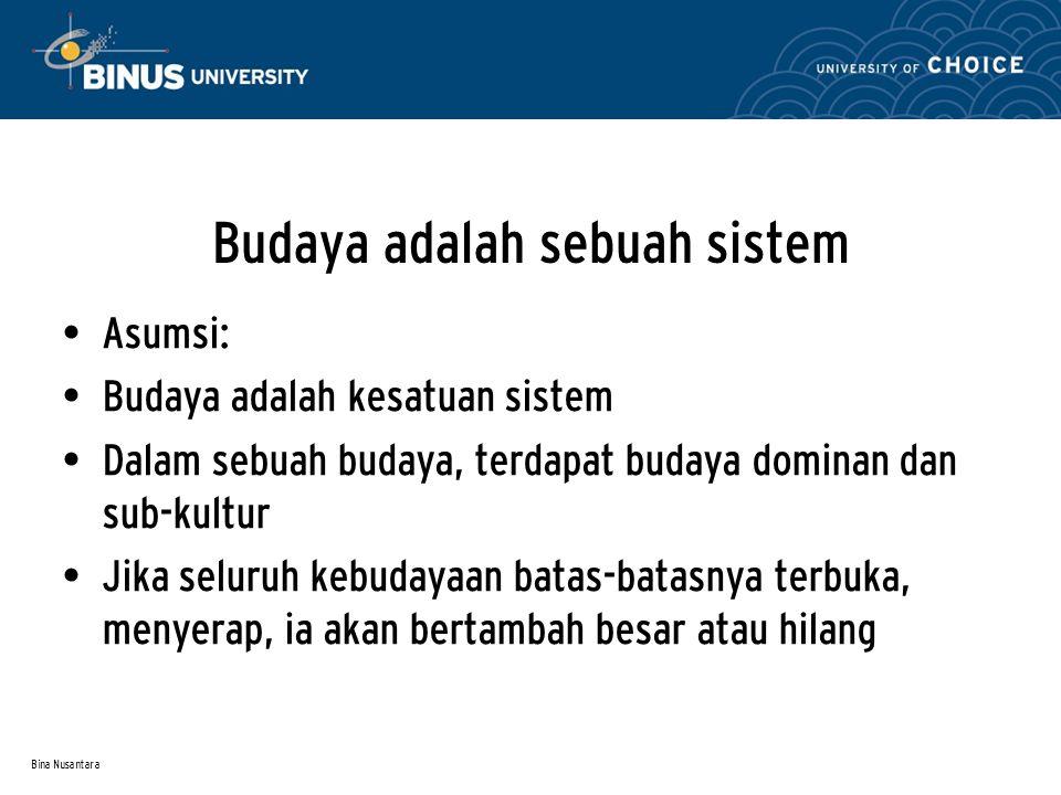 Budaya adalah sebuah sistem