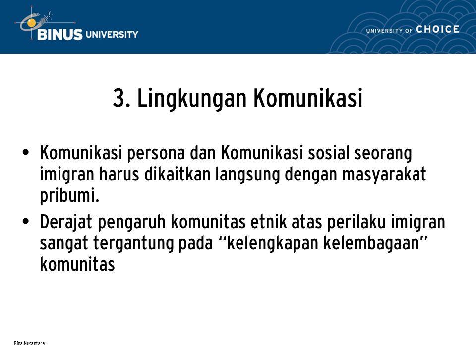 3. Lingkungan Komunikasi