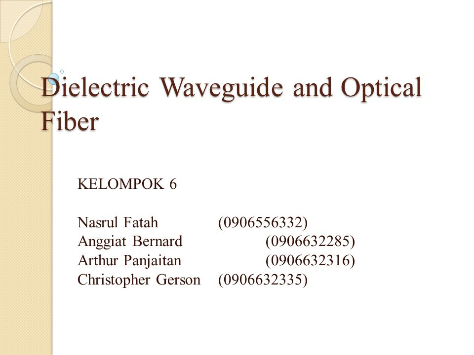 Dielectric Waveguide and Optical Fiber