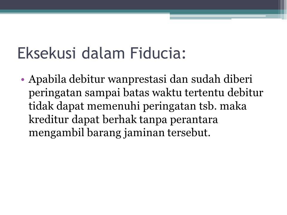 Eksekusi dalam Fiducia: