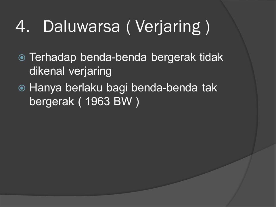 Daluwarsa ( Verjaring )