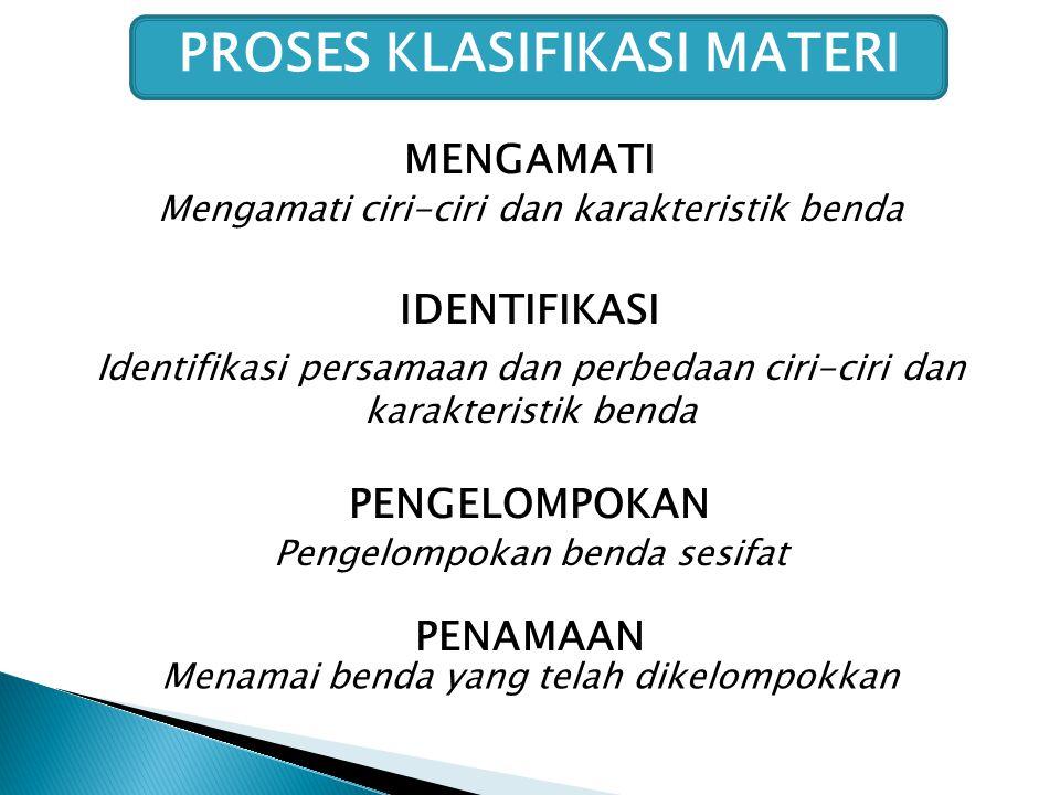 PROSES KLASIFIKASI MATERI