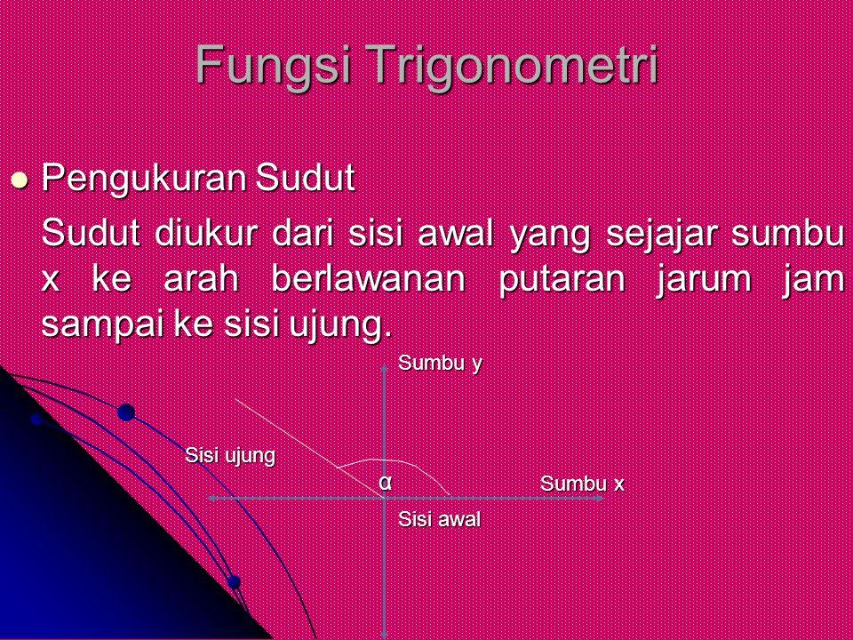 Fungsi Trigonometri Pengukuran Sudut