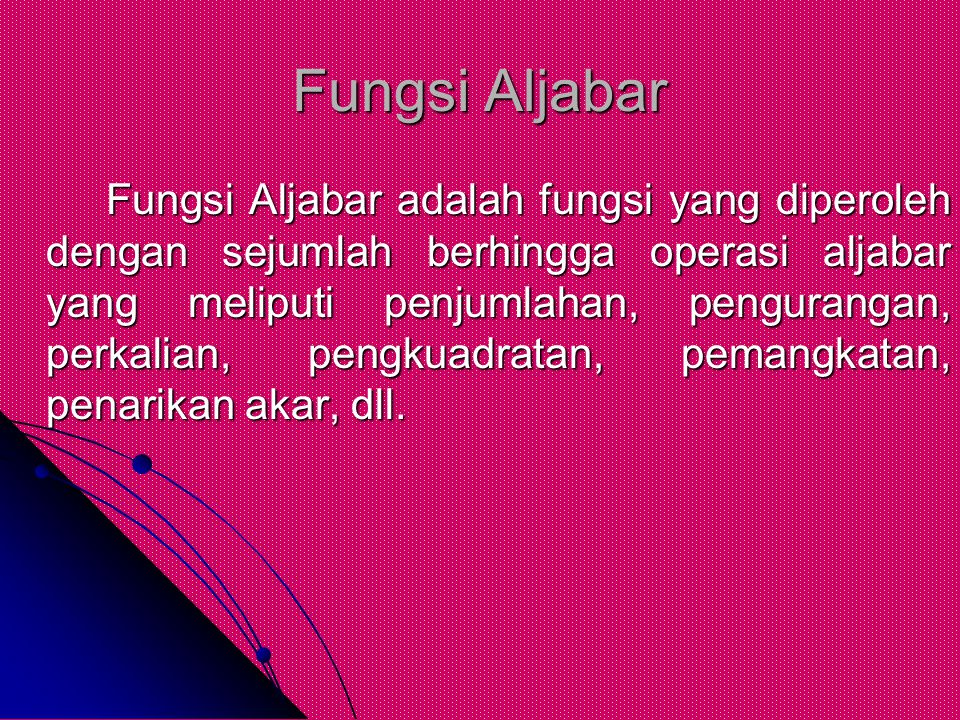Fungsi Aljabar
