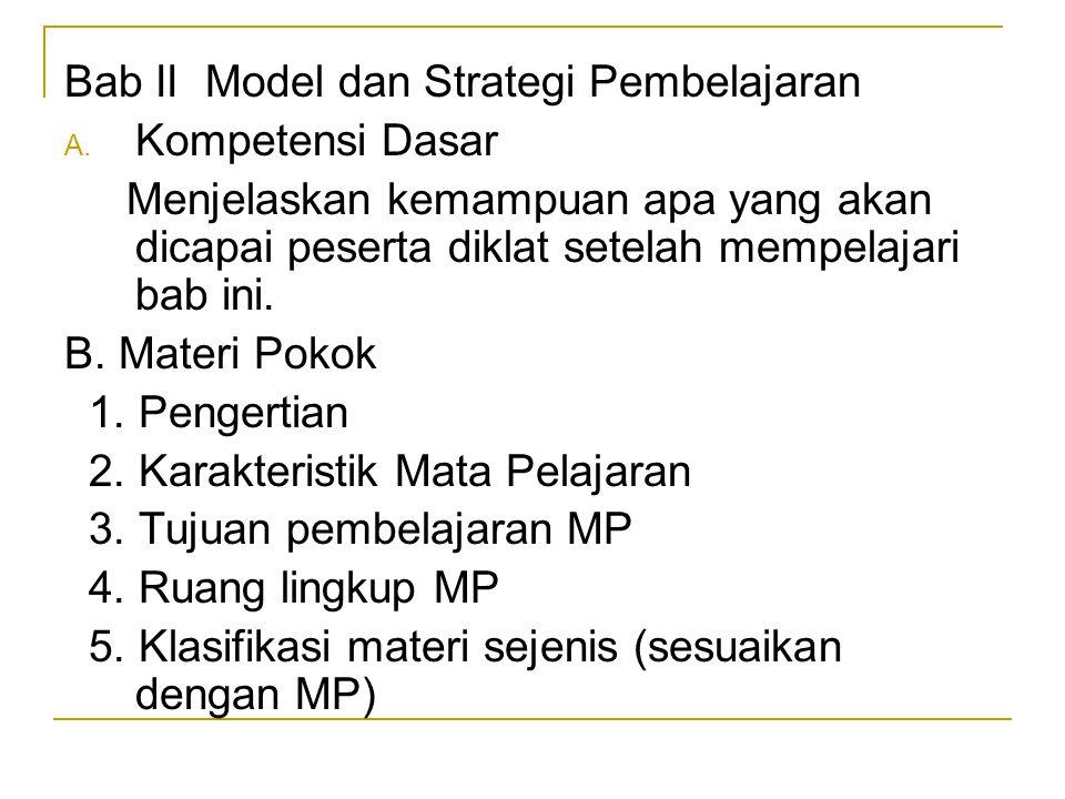 Bab II Model dan Strategi Pembelajaran