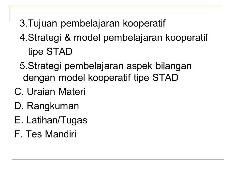 3.Tujuan pembelajaran kooperatif
