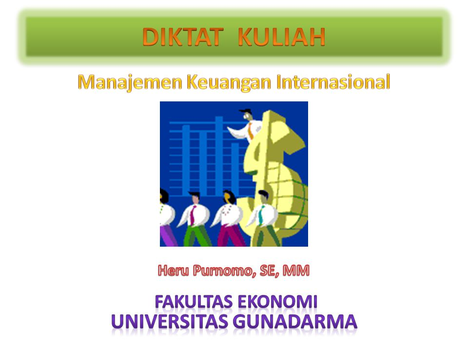 Manajemen Keuangan Internasional Universitas Gunadarma
