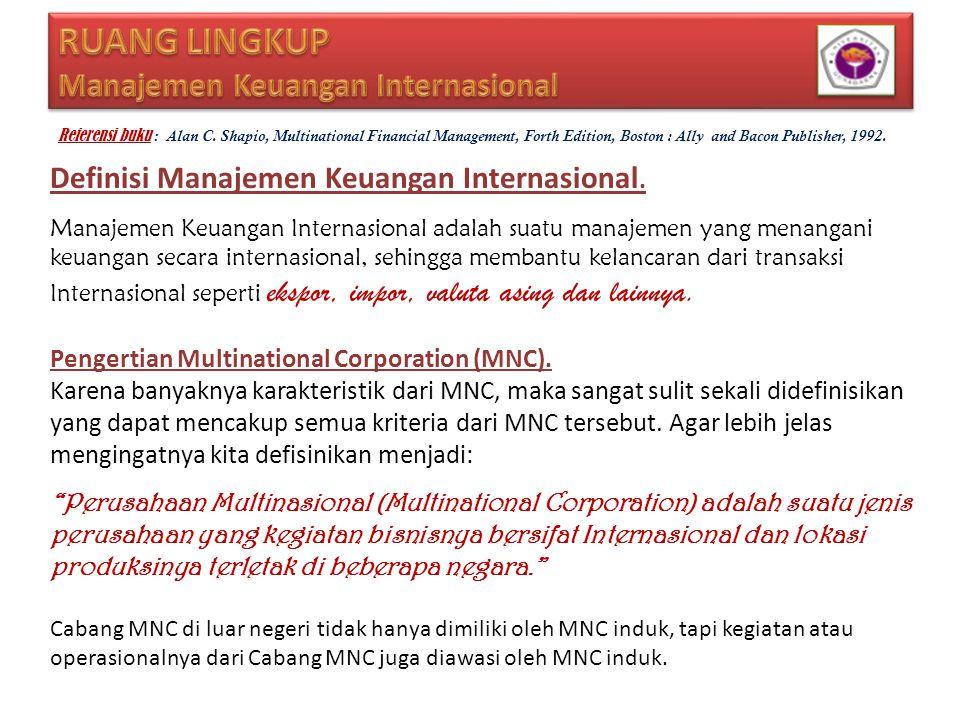 RUANG LINGKUP Manajemen Keuangan Internasional