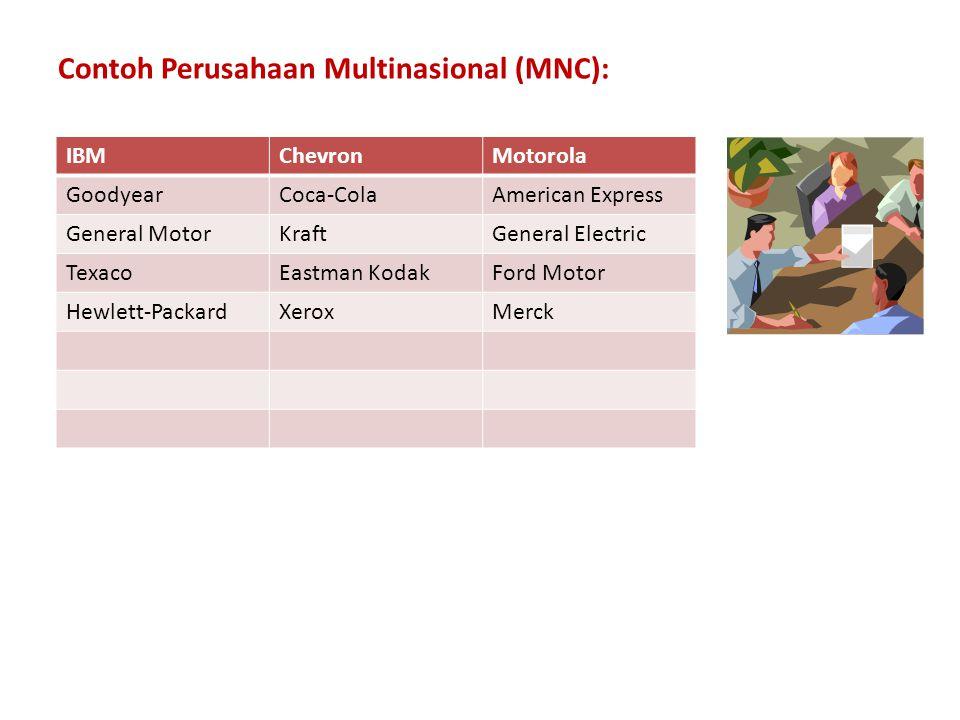 Contoh Perusahaan Multinasional (MNC):