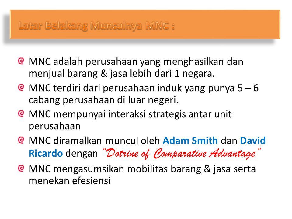 Latar Belakang Munculnya MNC :