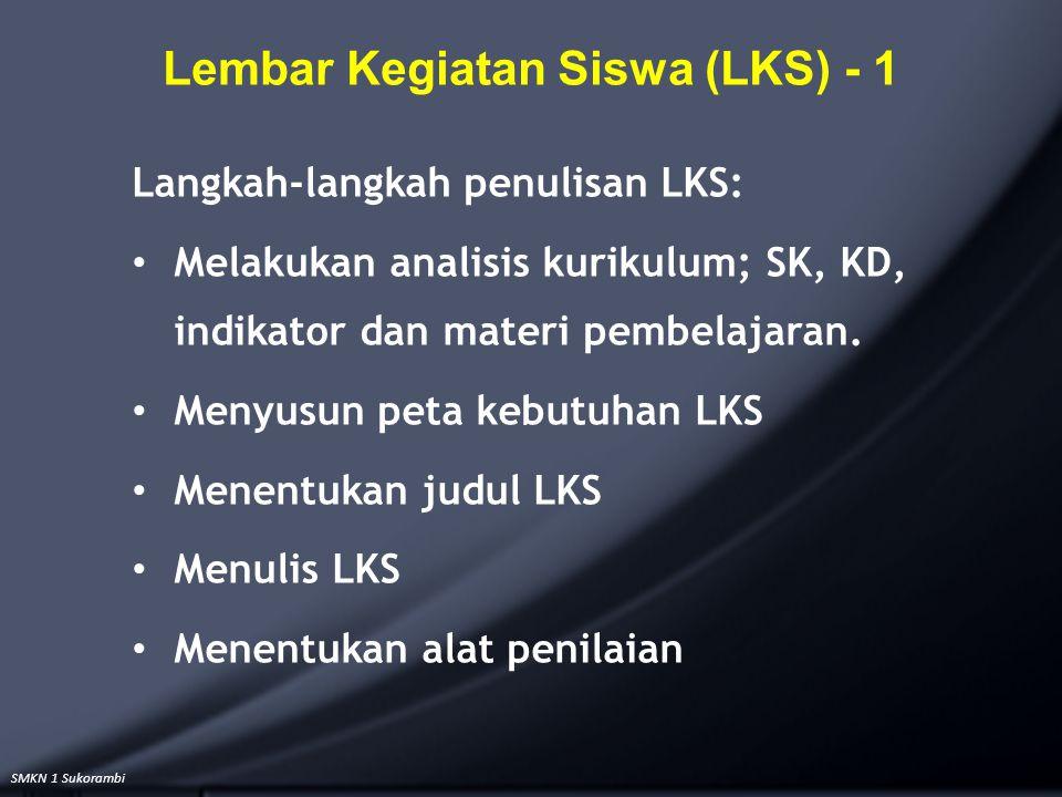 Lembar Kegiatan Siswa (LKS) - 1