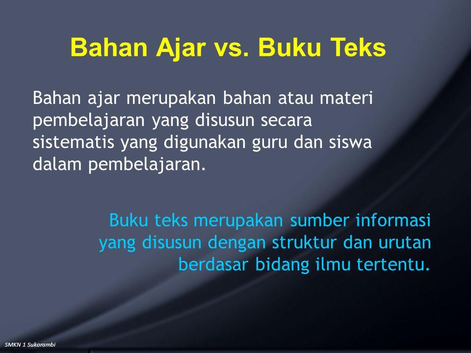 Bahan Ajar vs. Buku Teks