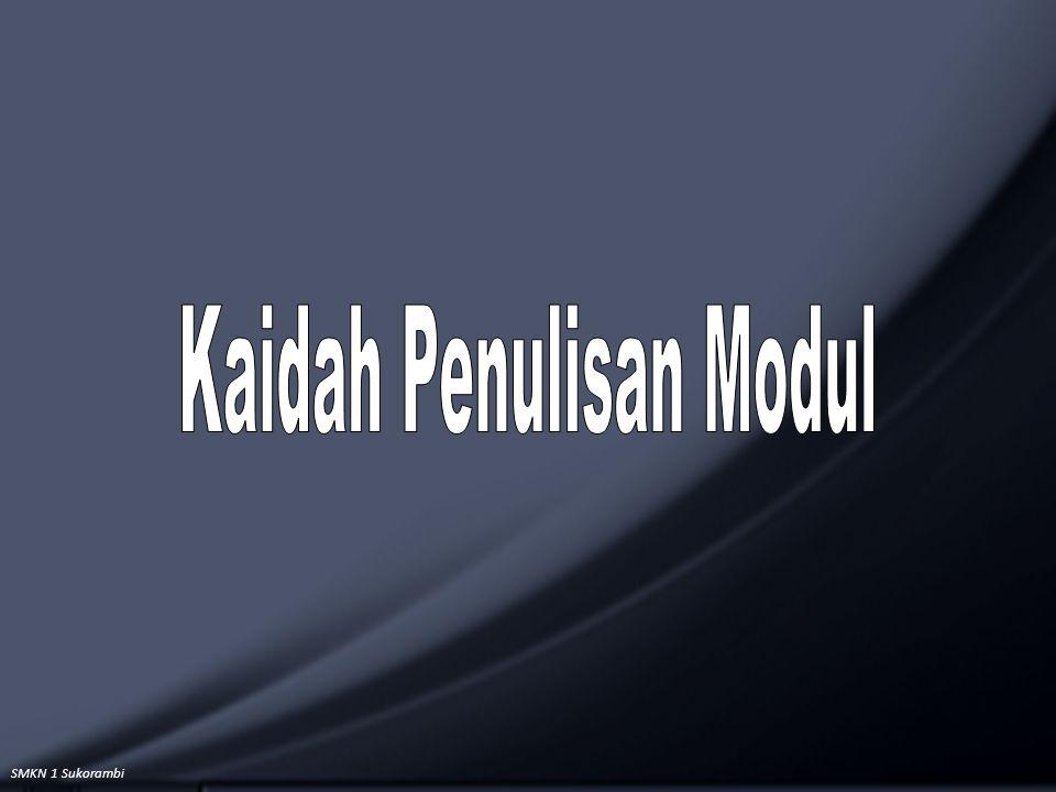 Kaidah Penulisan Modul