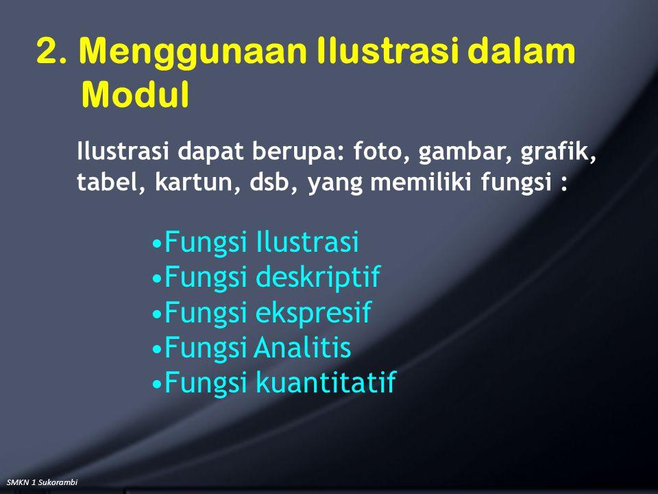 2. Menggunaan Ilustrasi dalam Modul