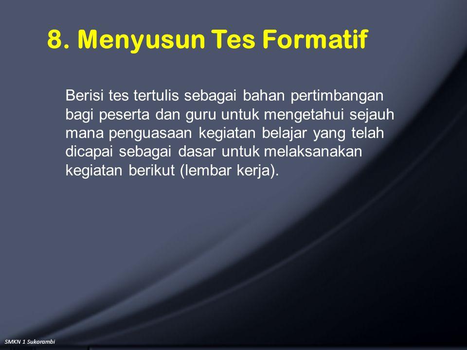 8. Menyusun Tes Formatif