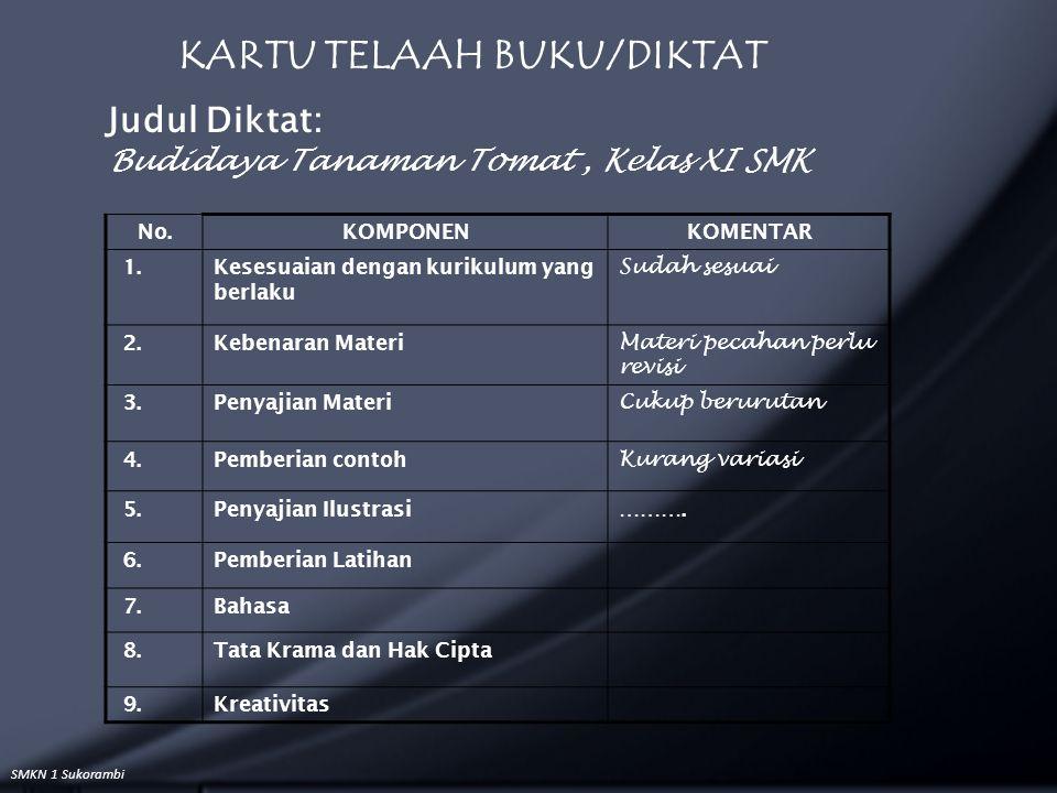 KARTU TELAAH BUKU/DIKTAT