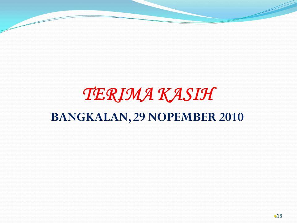 TERIMA KASIH BANGKALAN, 29 NOPEMBER 2010