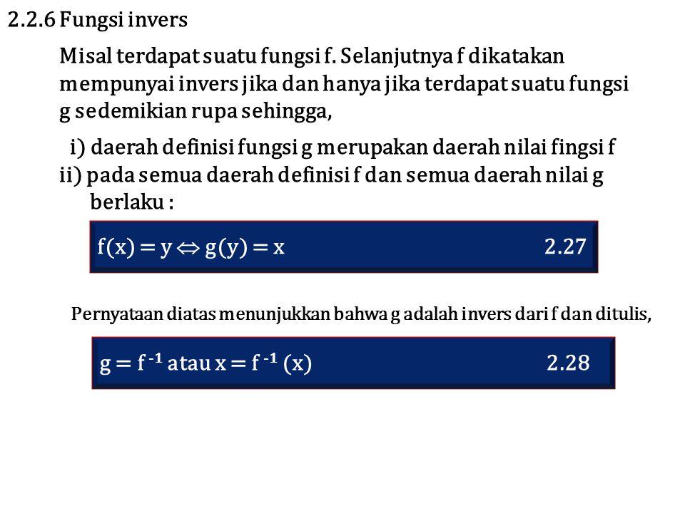 Misal terdapat suatu fungsi f. Selanjutnya f dikatakan