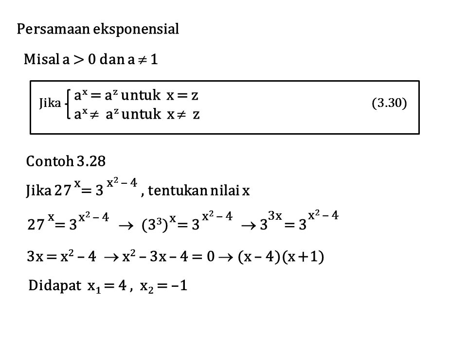 Persamaan eksponensial